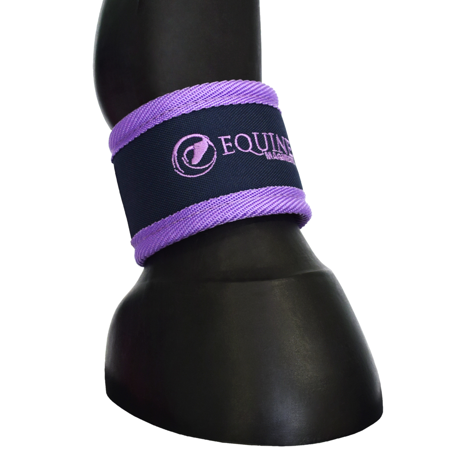 Magnetic horse ankle boots in purple by Equine Magnetix