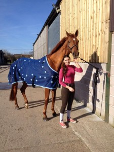 Princess wearing the Equine Magnetix rug