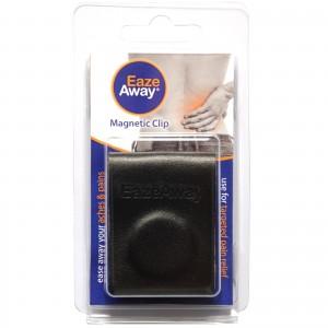 EazeAway magnetic clip shown in the packaging