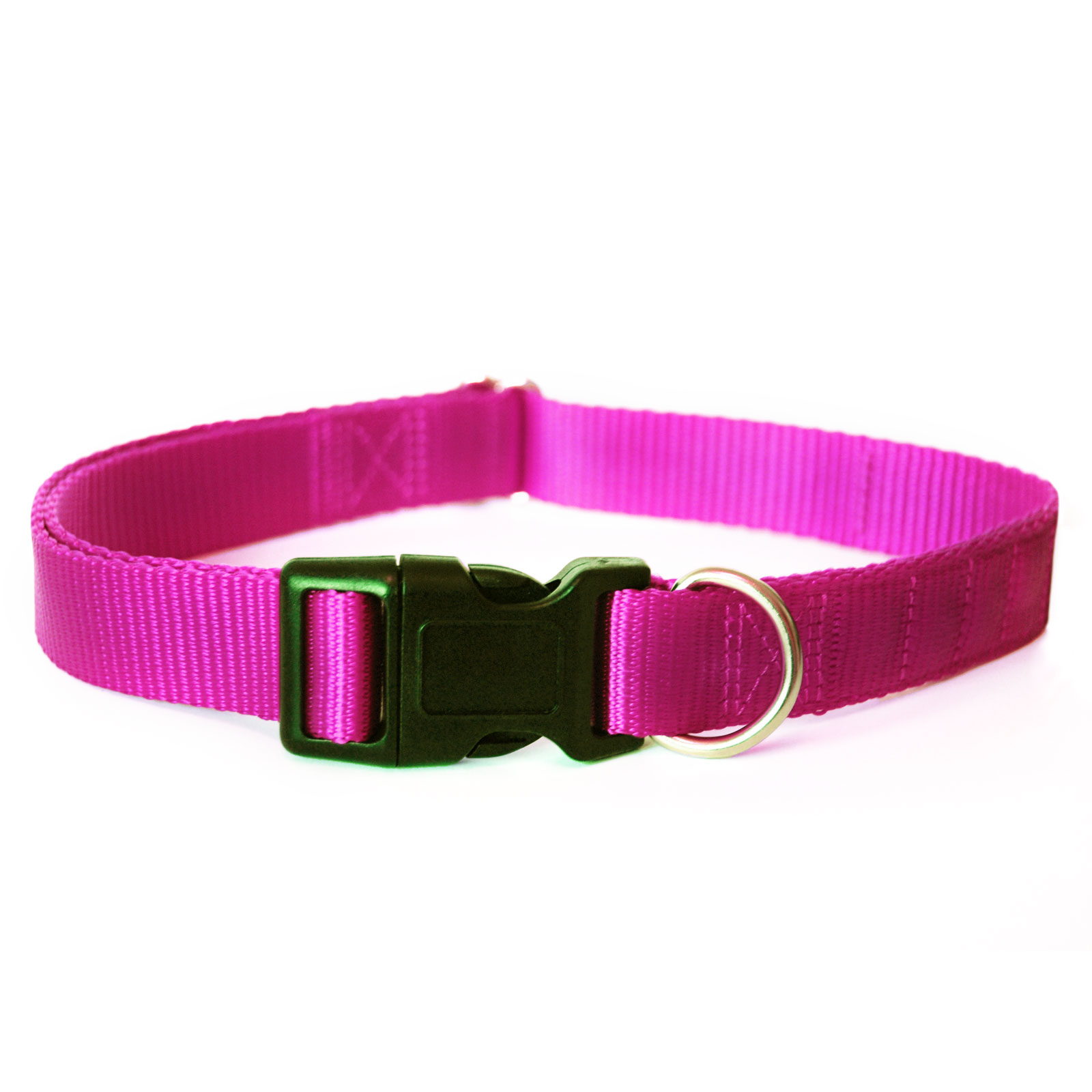 Pink magnetic dog collar