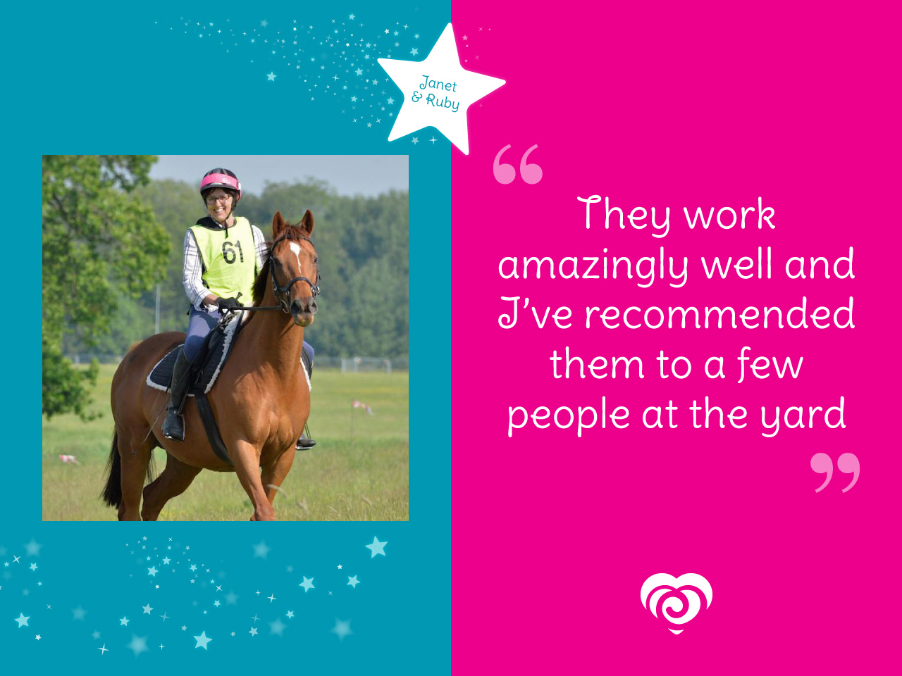 Janet and Ruby Spotlight - They work amazingly well and I've recommended them to a few people at the yard