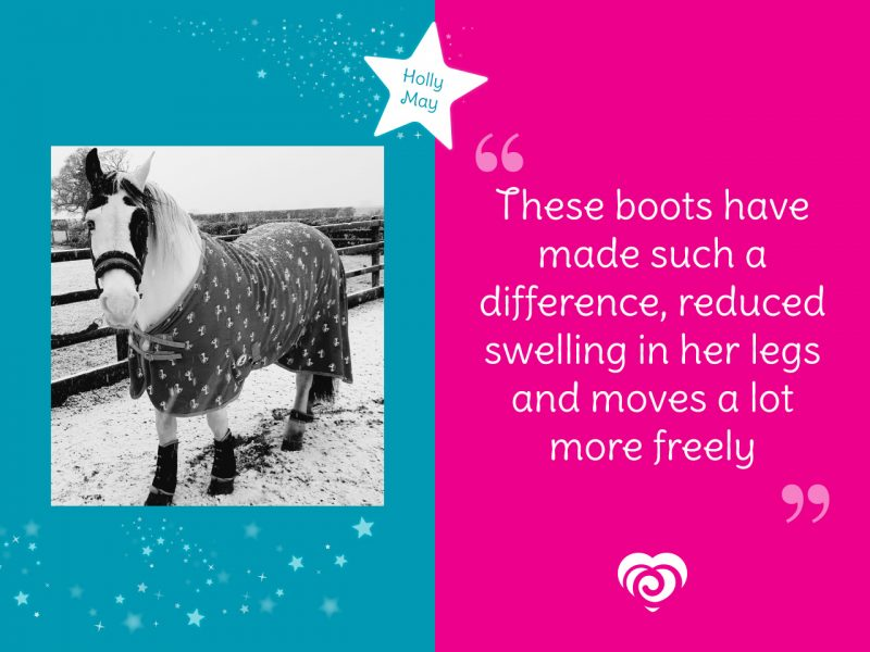 Holly May Spotlight - These boots have made such a difference, reduced swelling in her legs and moves a lot more freely